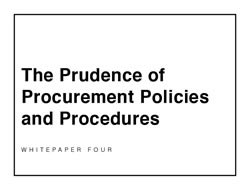 Prudence of Procurement Policies and Procedures